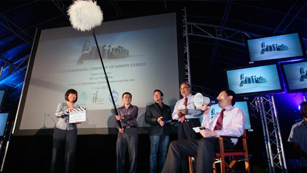 Groundbreaking Ceremony of Infinite Studios @ Mediapolis 2011